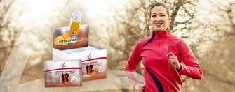 Fitline Fitness Drink ja nainen lenkillä