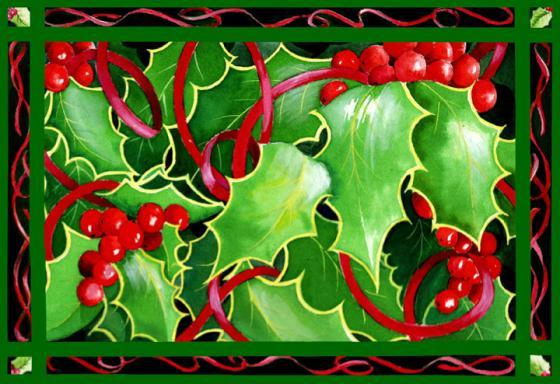 Christmas Holly & Berries announce the Holiday season.